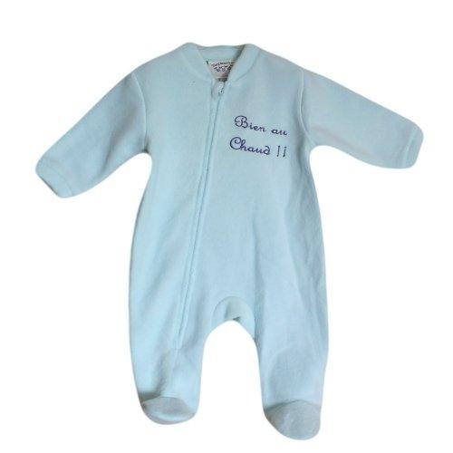 Surpyjama polaire Bleu clair turquoise Les Chatounets