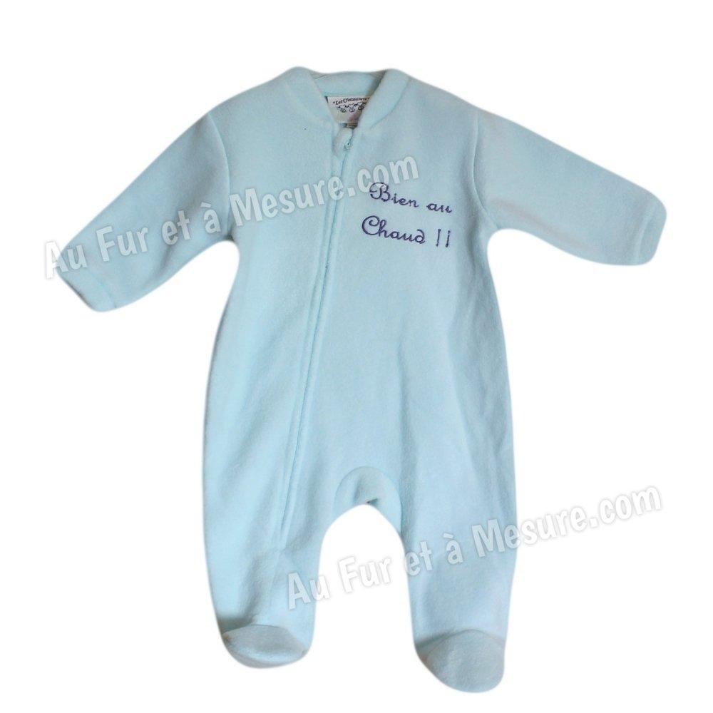 af47f74f6c597 Surpyjama bébé polaire Les Chatounets  Surpyjama polaire Bleu clair  turquoise Les Chatounets ...