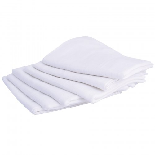 Lot de 6 langes unis blancs Doux Nid