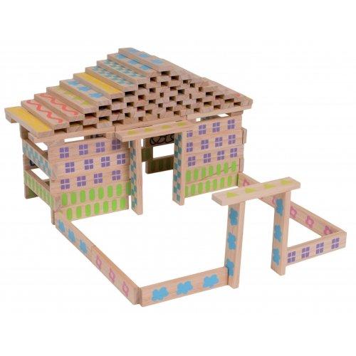 Jeu de construction en bois 100 pièces Boikido