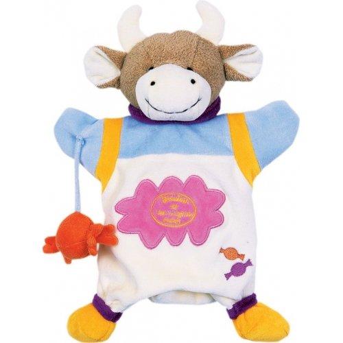 Doudou Marionnette Vache Cerise la Gourmande Doudou et Compagnie
