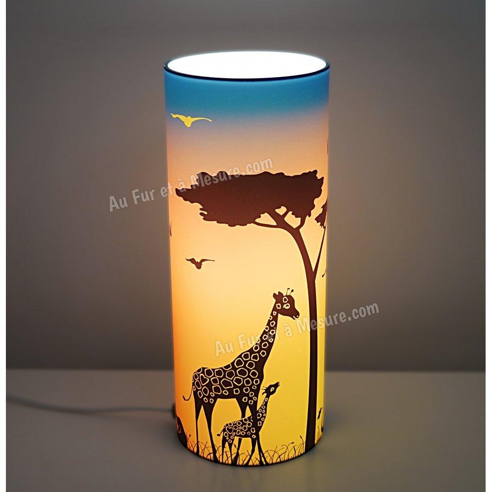 lampe de chevet orange bleu savane piculus. Black Bedroom Furniture Sets. Home Design Ideas