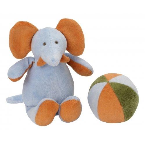 Peluche Éléphant & son ballon sonore Les Bébés d'Elyséa