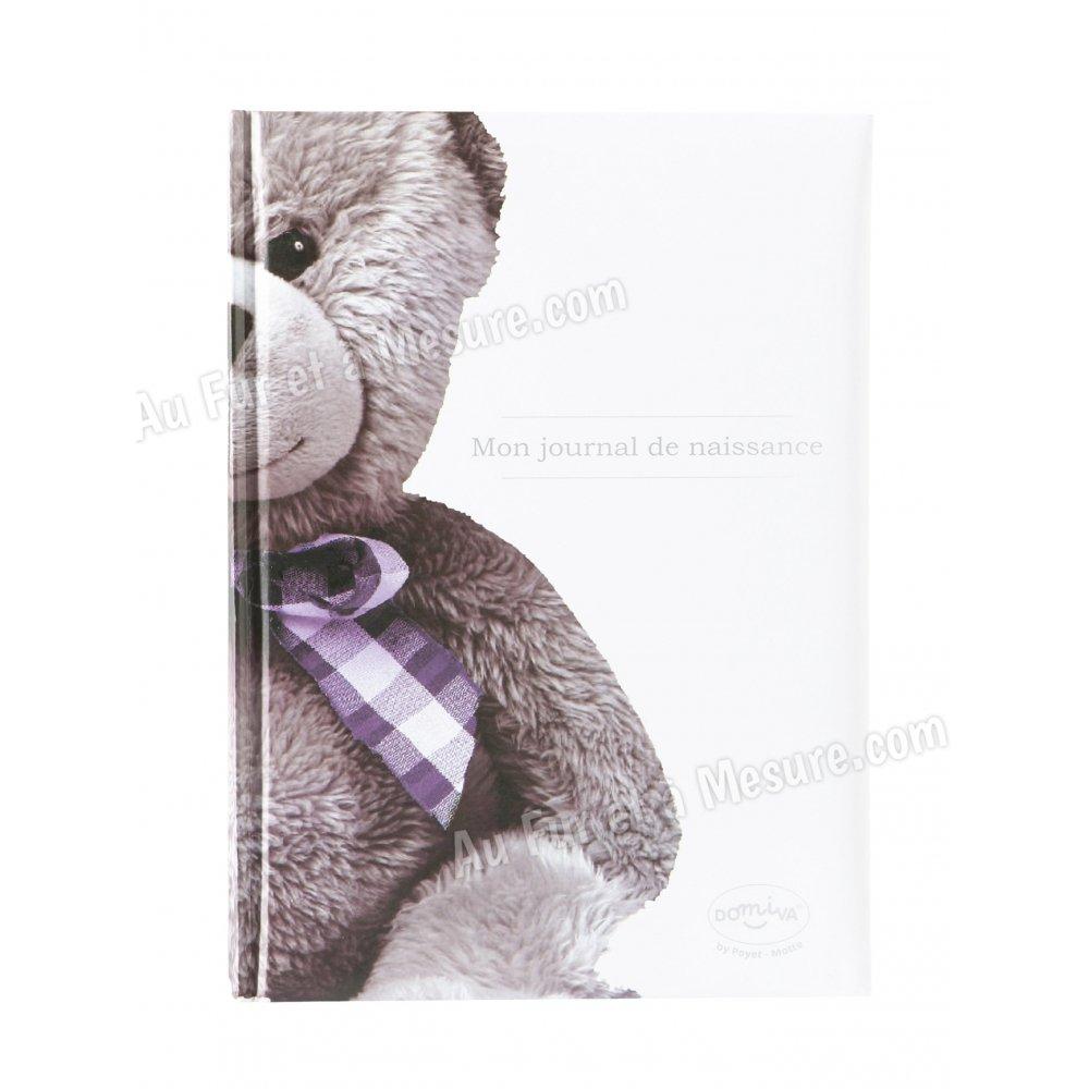 livre de naissance mon journal de naissance ourson blanc domiva. Black Bedroom Furniture Sets. Home Design Ideas