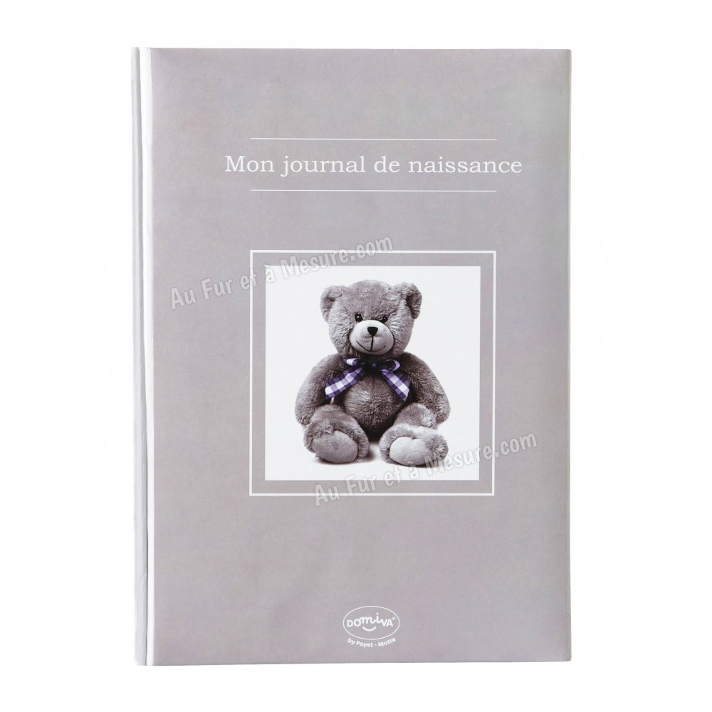 livre de naissance mon journal de naissance ourson taupe. Black Bedroom Furniture Sets. Home Design Ideas