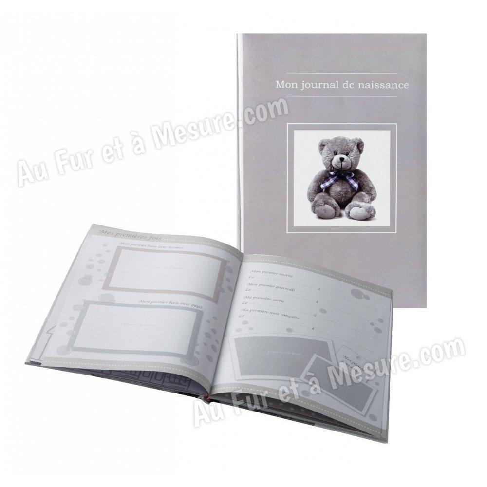 livre de naissance mon journal de naissance ourson taupe domiva. Black Bedroom Furniture Sets. Home Design Ideas