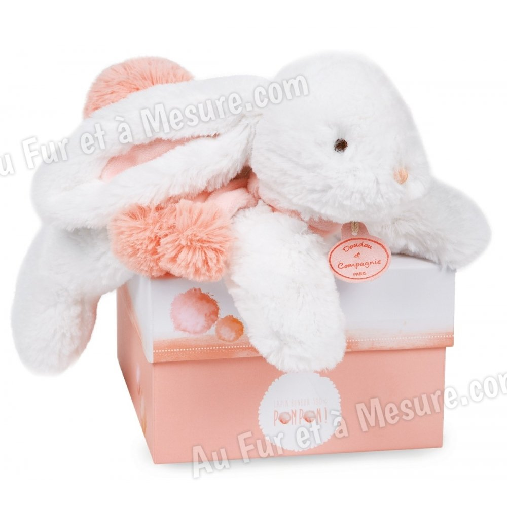 doudou peluche lapin pompon 25 cm doudou et compagnie. Black Bedroom Furniture Sets. Home Design Ideas