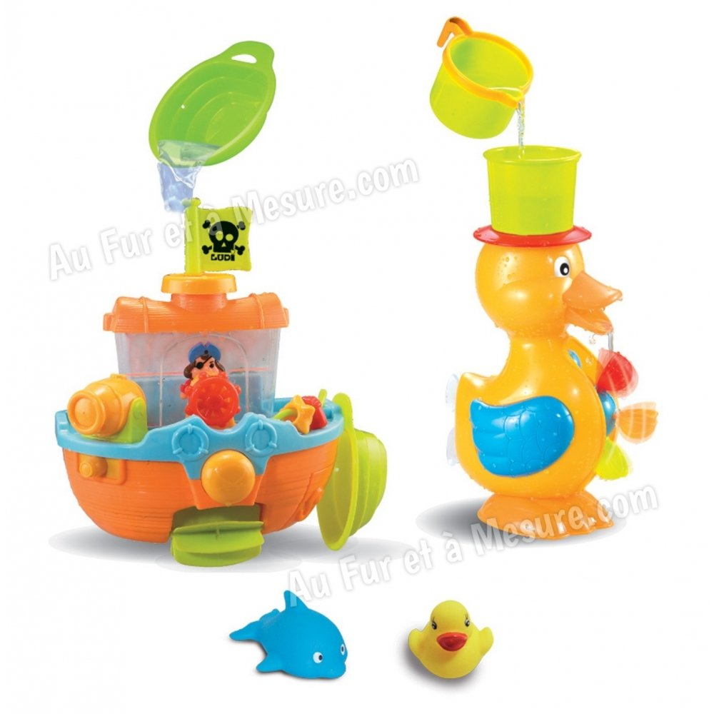 Coffret de bain 3 activit s canard de bain pirate ludi for Coffret salle de bain