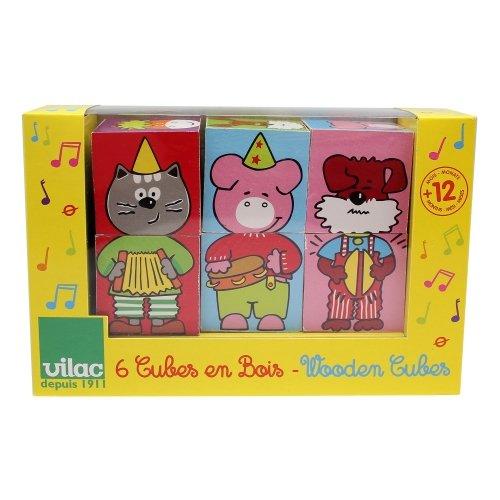 6 cubes Animaux & Musique Vilac