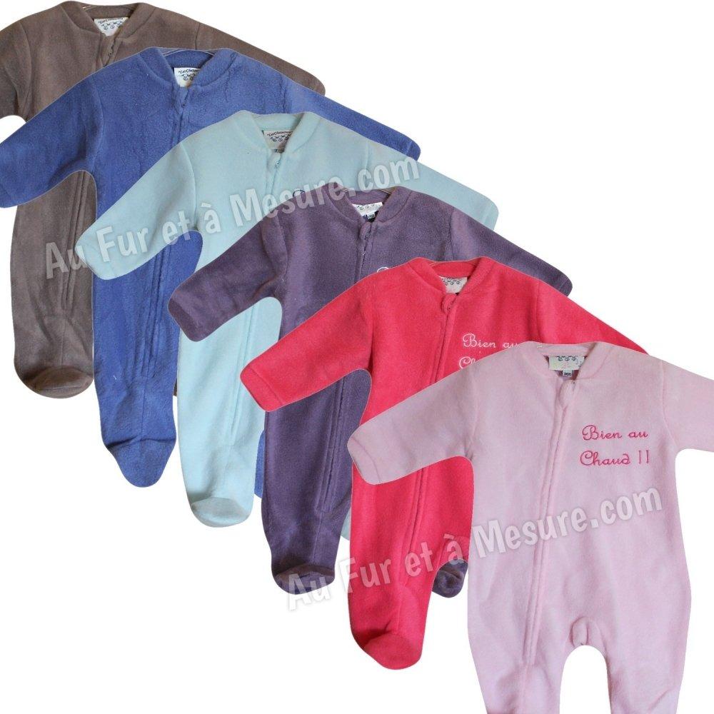 25af10ad6599f Surpyjama bébé polaire Les Chatounets
