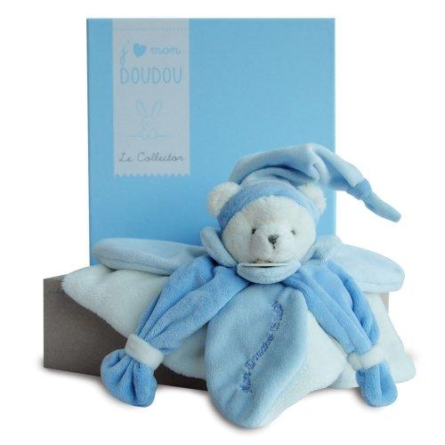 Doudou plat Ours Bleu Collector Doudou et Compagnie