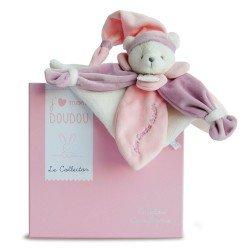 Doudou plat Ours Rose Collector Doudou et Compagnie