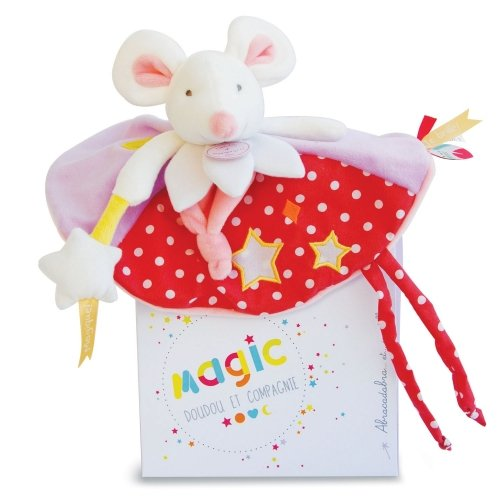 Doudou plat Souris luminescent Magic Doudou et Compagnie