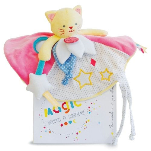 Doudou plat Chat luminescent Magic Doudou et Compagnie