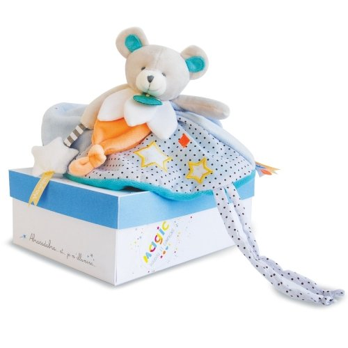 Doudou plat Ours luminescent Magic Doudou et Compagnie