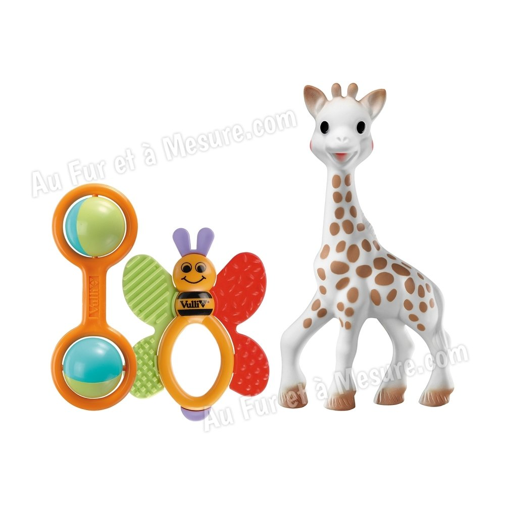 set de naissance jouets d 39 veil sophie la girafe vulli. Black Bedroom Furniture Sets. Home Design Ideas