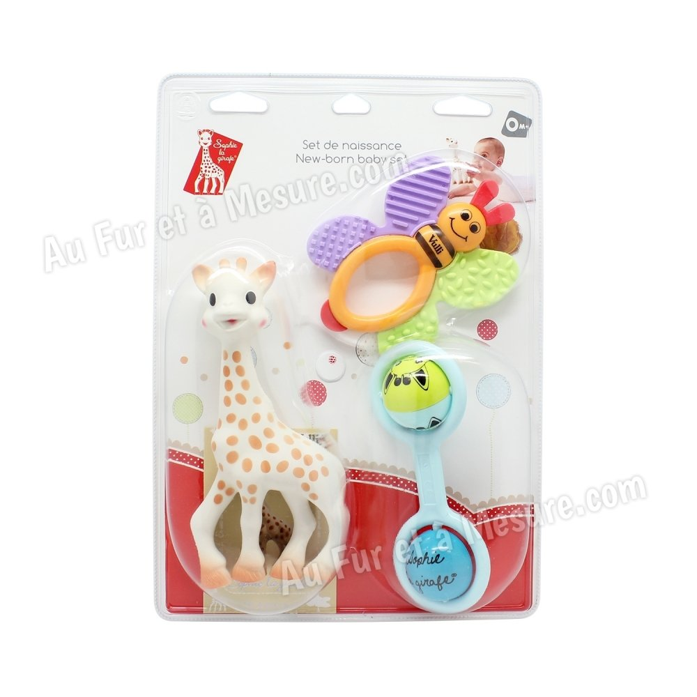 set de naissance jouets d 39 veil sophie la girafe vulli. Black Bedroom Furniture Sets. Home Design Ideas