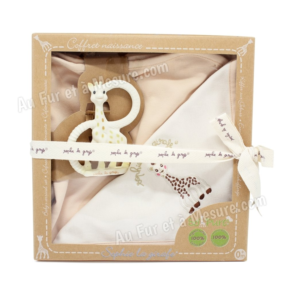 coffret de naissance bio so 39 pure sophie la girafe vulli. Black Bedroom Furniture Sets. Home Design Ideas