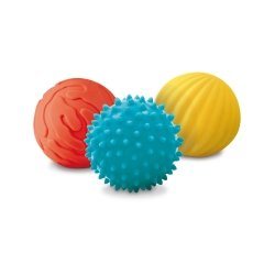 Lot de 3 balles sensorielles toucher velours Ludi