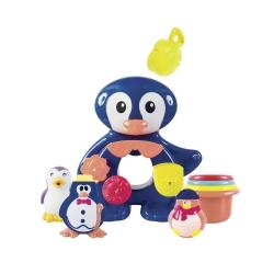 Pingouin Fontaine de bain et ses amis Ludi