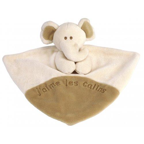 Doudou plat Ferdinand l'Elephant Les Bébés d'Elyséa
