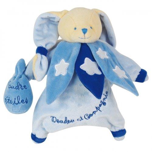 Doudou Marionnette Lapin bleu Phosphorescent Doudou et Compagnie