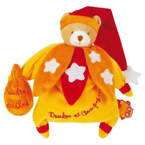 Doudou Marionnette Ours orangé Phosphorescent Doudou et Compagnie
