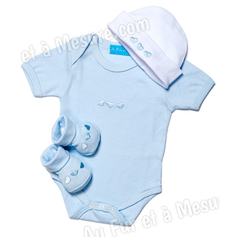 Trousseau naissance bleu clair 3 pi ces les b b s d 39 elys a for Etagere bebe fille