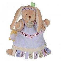 Doudou Marionnette Lapine indienne Doudou et Compagnie