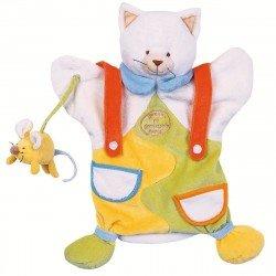 Doudou Marionnette Chat et petite Souris Doudou et Compagnie